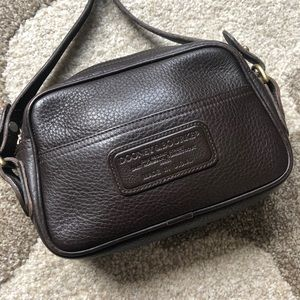 Vintage Dooney & Bourke Brown Leather Crossbody